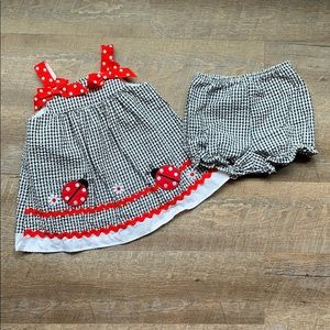 Other - Adorable lady bug smocked dress with bottoms